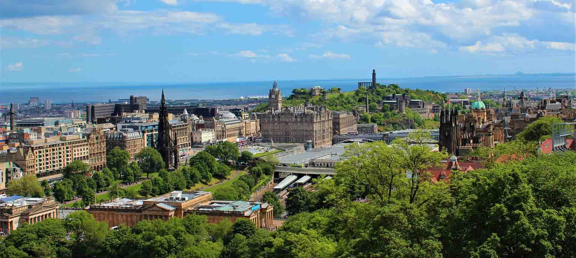 Edinburgh stadsaanzicht